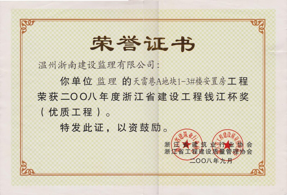 2008天雷巷钱江杯